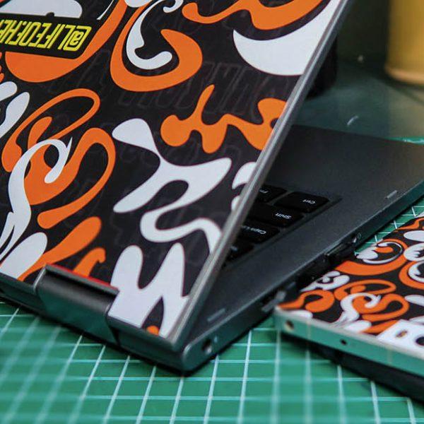 Desain Stiker Laptop dan Handphone | DIY