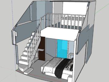 desain ruangan loft