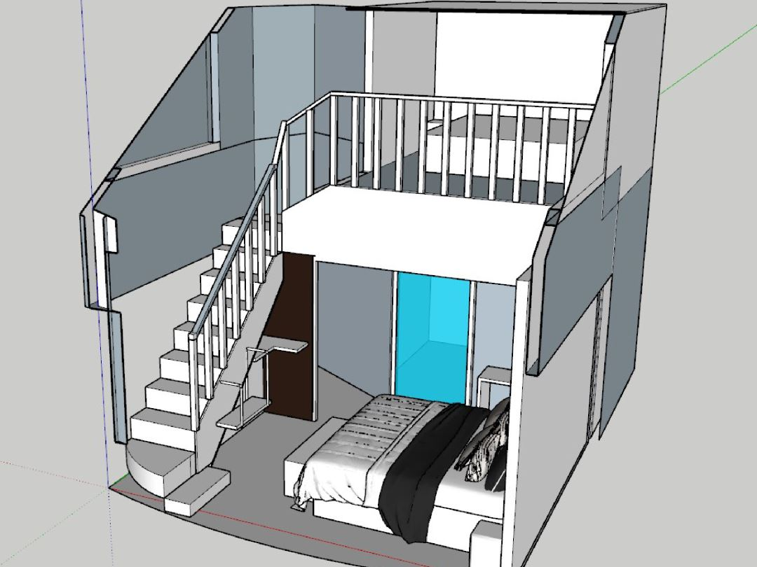 Memaksimalkan Luas Ruangan Kamar Desain LOFT | H3NDY