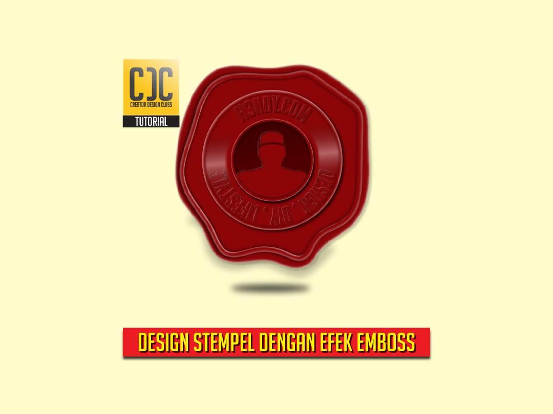 cara membuat desain stempel