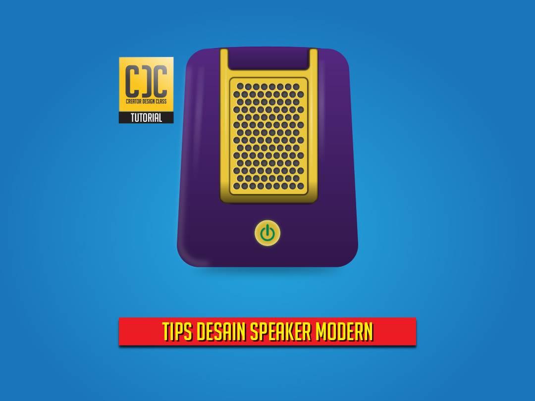 desain speaker modern menggunakan adobe illustrator h3ndy