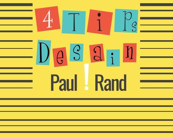 4 Tips Desain Grafis Dari Paul Rand   Desain Logo
