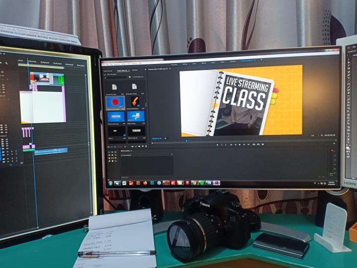 Proses Pembuatan Desain Frame Video Unik 1 H3NDY