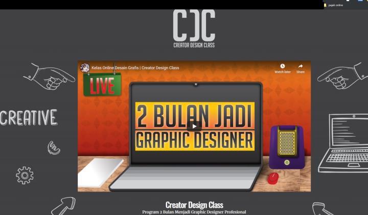 contoh desain frame media promosi