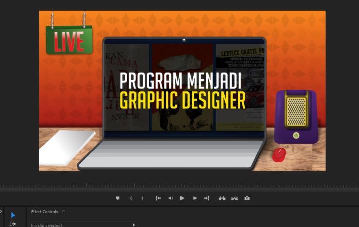 penggunaan desain frame untuk video promosi