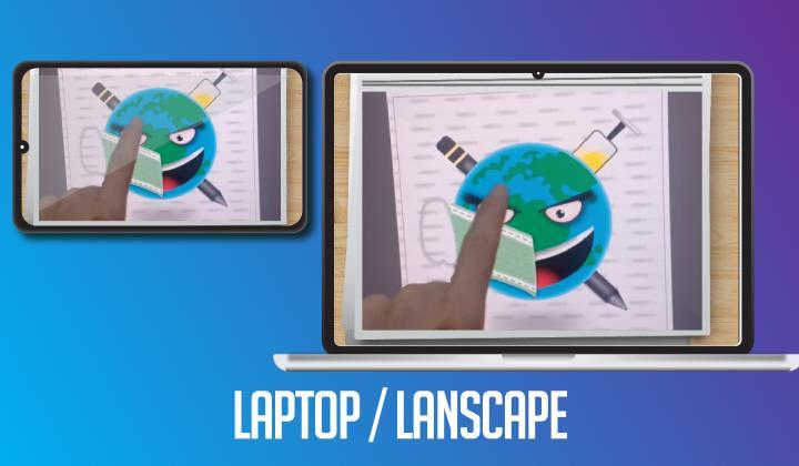 template desain frame video untuk media sosial