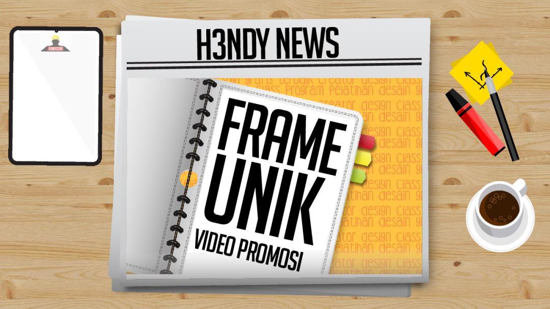 pembuatan desain frame video