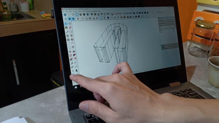 desain mekanisme capitan masak menggunakan google sketchup