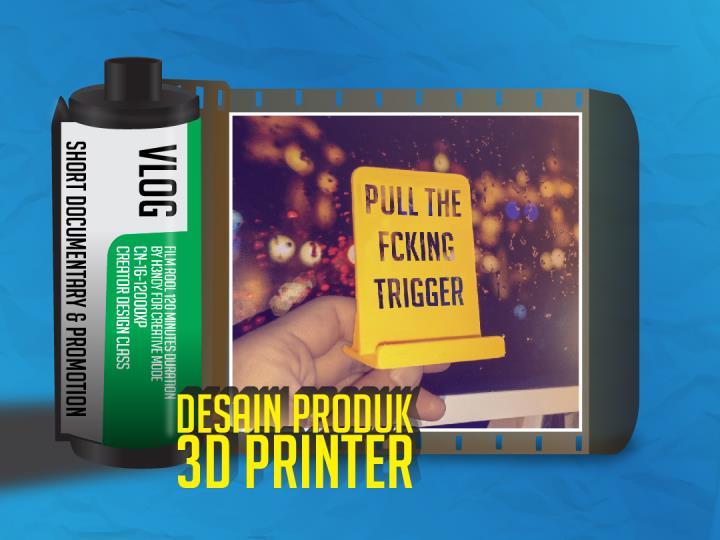 cara desain phone holder 3d printer dudukan handphone