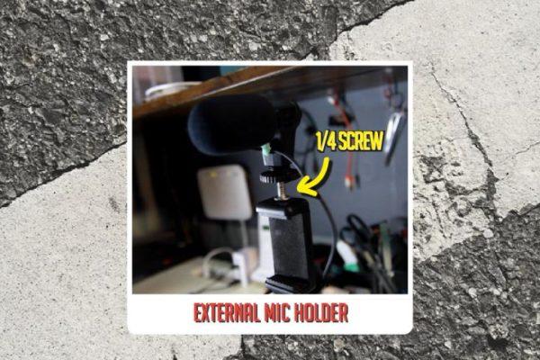 Modifikasi U Holder Handphone Dan External Mic