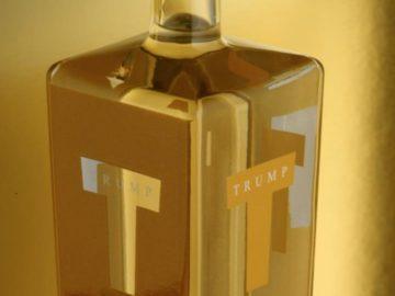 botol wishky trump by Milton Glaser