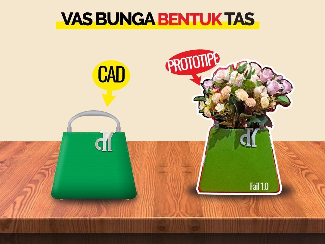 Desain Vas Bunga Bentuk Tas Fashion